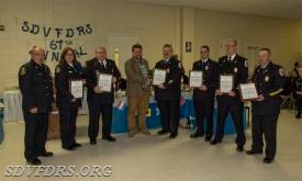 Life Saving awards went to Cathy and JP Caulder, Dan Browne, Jake Walker, Blair Swann and Bobby Lynch.