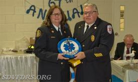 EMS Person of the Year was Cathy Caulder
